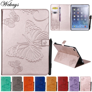 Wekays For Apple Ipad Air2 Ipad 6th Cartoon Butterfly Leather Fundas Case For Coque IPad Air 2 IPad 6 IPad6 9.7 inch Cover Cases wekays for apple ipad mini 4 cute cartoon unicorn leather fundas case sfor coque ipad mini 4 tablet cover cases for ipad mini4