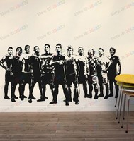 Free shipping Wall Stickers Wholesale and retail Wall decor PVC material decals wallpaper Football soccer Z-2674