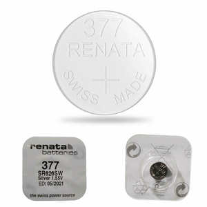 5 x RENATA 377 WATCH BATTERY SR626SW SWISS MADE SILVER OXIDE 1.55V MERCURY FREE