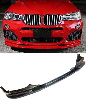 3-D Style Serat Karbon Depan Lip Spoiler Cocok untuk BMW F26 X4 M-Olahraga