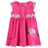 Novatx H4558 Retail 2016 New Arrival Free Shipping Pink Kids Short Sleeves Carton Pig Children Girls
