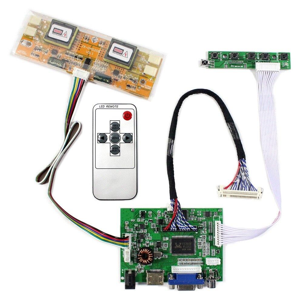 HDMI VGA 2AV Audio LCD Controller Board For 17inch 19inch 1280x1024 M170EG02 LM190E03 LCD Screen