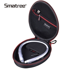 цена на Smatree Wireless Headphone Bag Charging Case for LG  HBS 910/1100//900/800/760/750/730/700W (Headphone is NOT included)