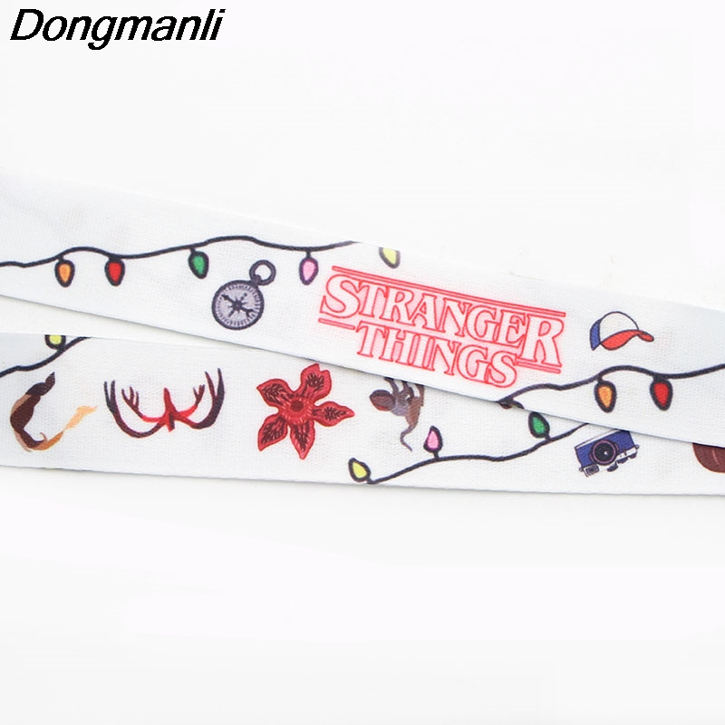 M1439 DMLSKY TV Stranger Things Sunflower Lanyard Badge ID Lanyards Mobile Phone Rope Key Lanyard Neck Straps Accessories in Torques from Jewelry Accessories