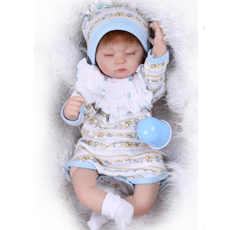 ФОТО New Style Realist Silicone Reborn Baby Dolls Newborn Sleeping Doll Toys for Children,15