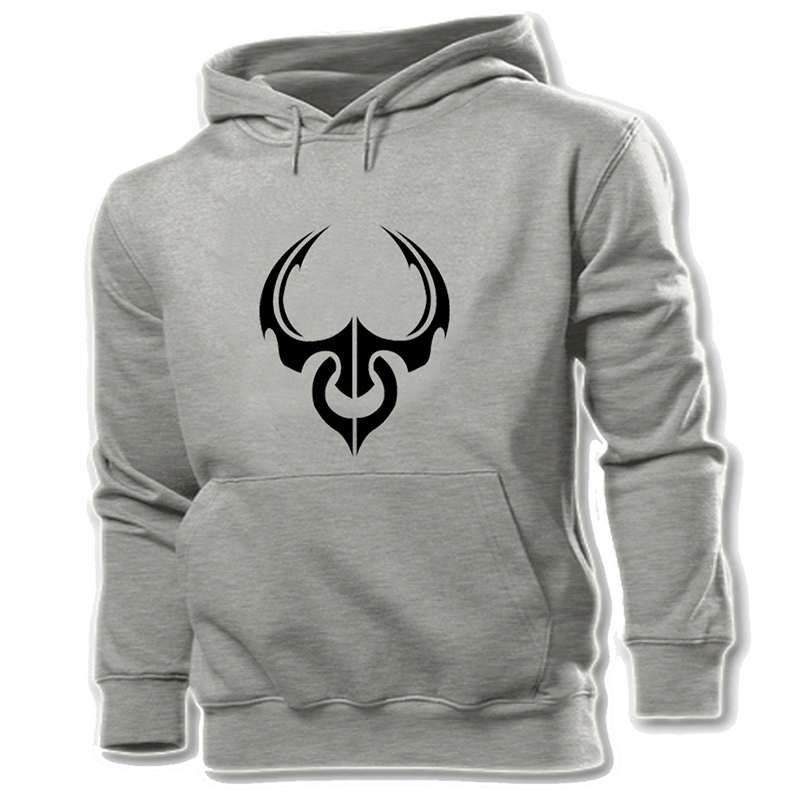 Mens Hoodie Scorpion Tribal Design