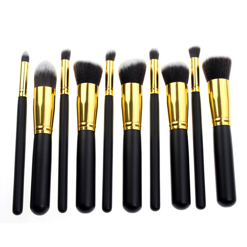 Newest 2015,10 PCS Pro Beauty Makeup Brushes Tools eyeshadow foundation Make Up Brush Set Kit,3 colors