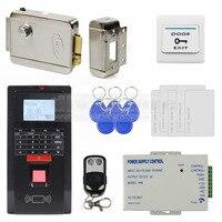 Diysecur fechadura elétrica cartão de identificação impressão digital 125 khz rfid leitor senha teclado porta sistema controle acesso kit para escritório/casa