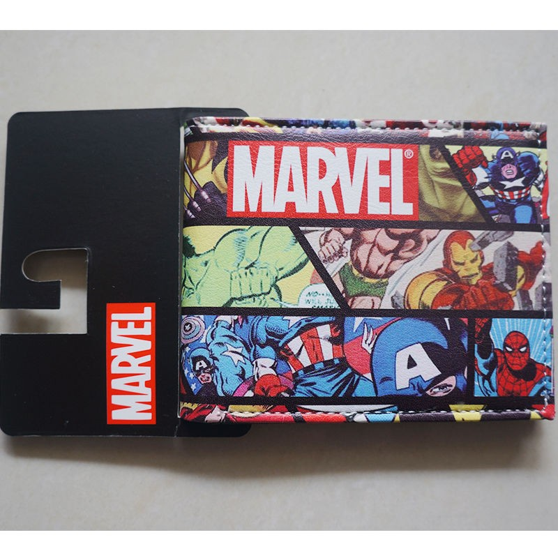 Comics DC Marvel dollar Price Wallets men Women Super Hero Anime Purse Creative Gift Fashion Leather Bags carteira masculina comics dc marvel dollar price wallets men women super hero anime purse creative gift fashion leather bags carteira masculina