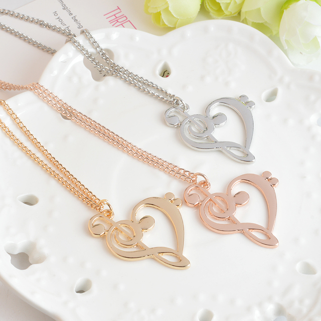 Musical Note Fashion Necklace