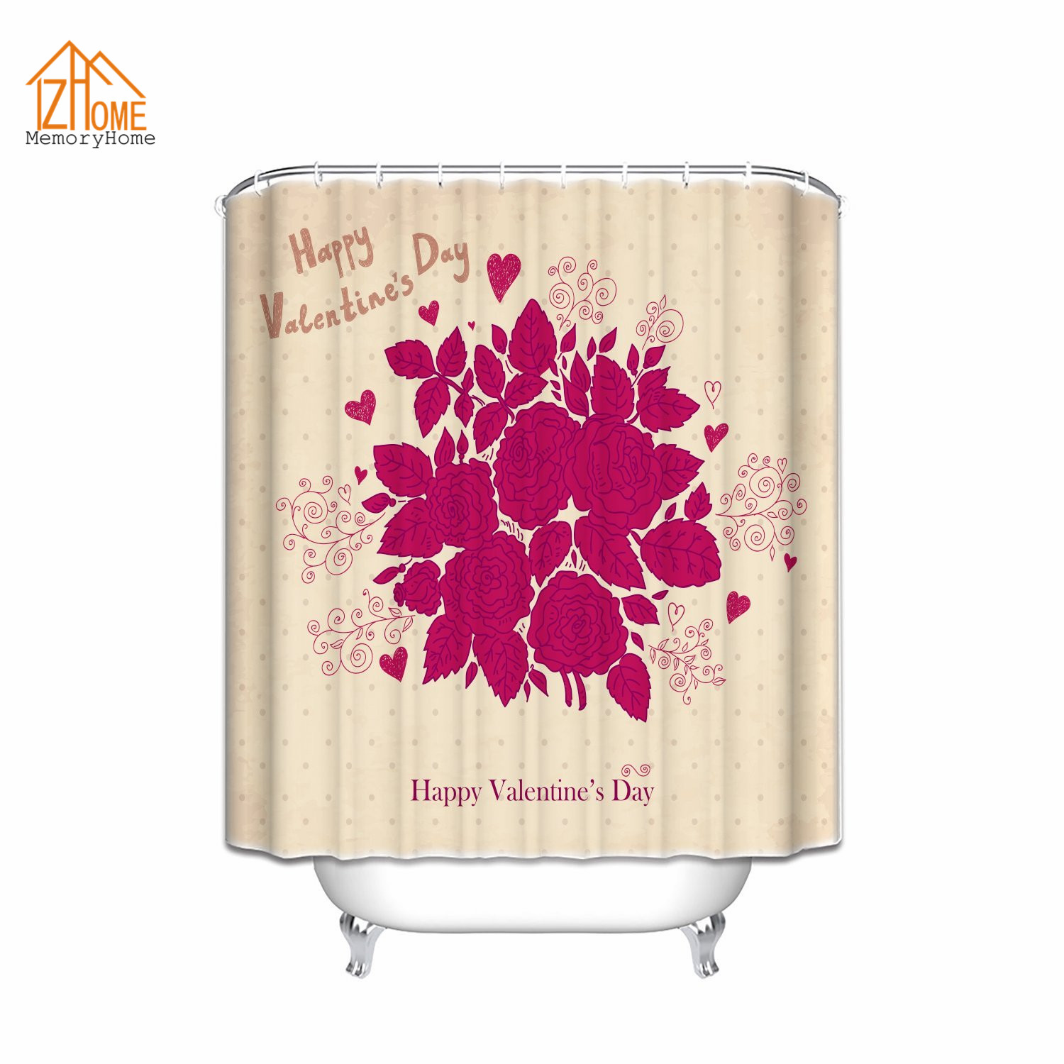 Memory Home Rose Romance Sweetheart Valentine Sensual Fragrant Love Symbol  Closeup Picture Living Room Bedroom Shower Curtain - Online Get Cheap Valentine Shower Curtains -Aliexpress.com
