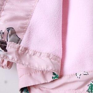 Image 5 - Детские толстовки с капюшоном для девочек 2 9 лет, повседневные ветрозащитные куртки с принтом животных для девочек, весна лето 2019