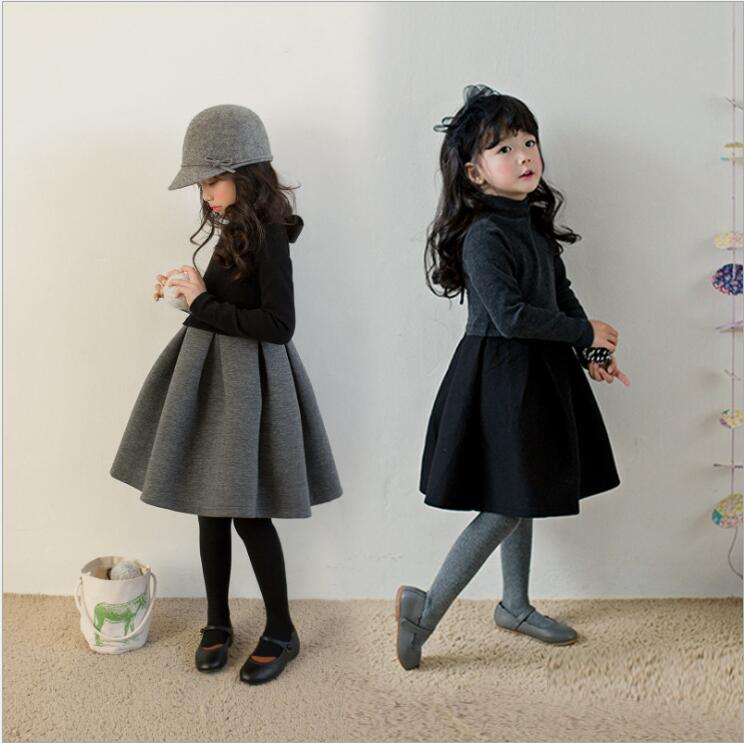 цена на New Winter Baby Dress for Girl Long Sleeve Princess Girls Dresses Little Baby Party Dress Toddler Girl Bow Thick Warm Clothes