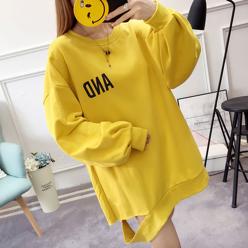 4f7d401defb Oversized sweatshirt cotton autumn winter long sleeve thick tops for women  girl hoodie casual loose harajuku plus size pullover