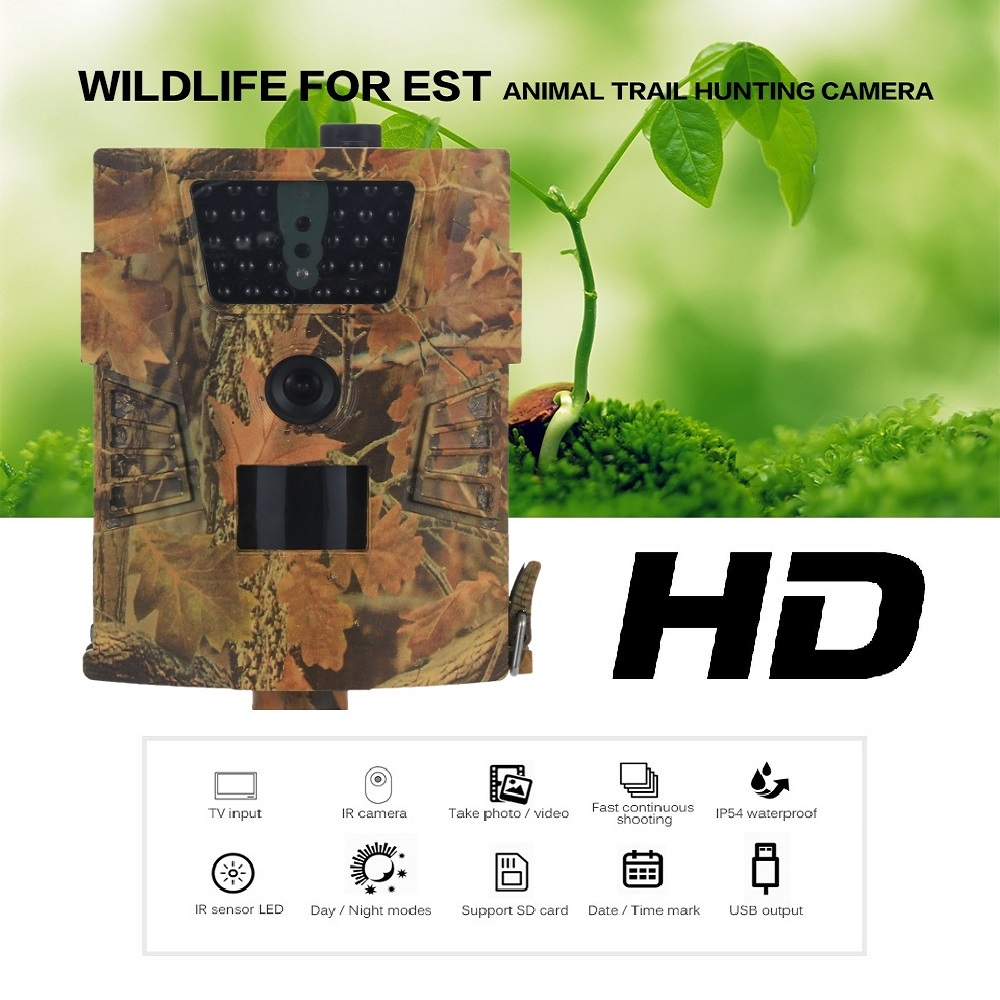 Suntekcam HT 001B Wild Camera 12MP Hunting camera 850nm 30pcs LED infrared camera 1080P Wildlife Photo Traps for Hunter in Surveillance Cameras from Security Protection