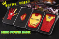 Alta qualidade hero homem de ferro 6800 mah de emergência bateria externa bateria usb power charger banco para iphone android telefone portátil