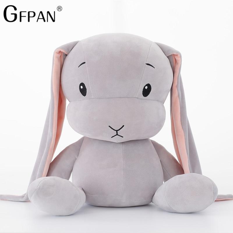 1PC 30/50CM Lucky Doll Kawaii Long Ear Rabbit Plush&Stuffed Soft Rabbit Animal Toy Birthday Christmas Gift Baby Kids Girl Toys