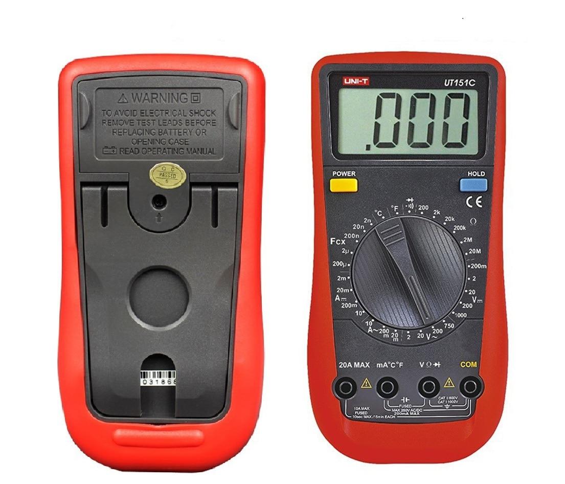 2017 NEW Digital Multimeter UNI-T UT151C Professional Electrical Handheld Tester LCR Meter Ammeter Multitester цены