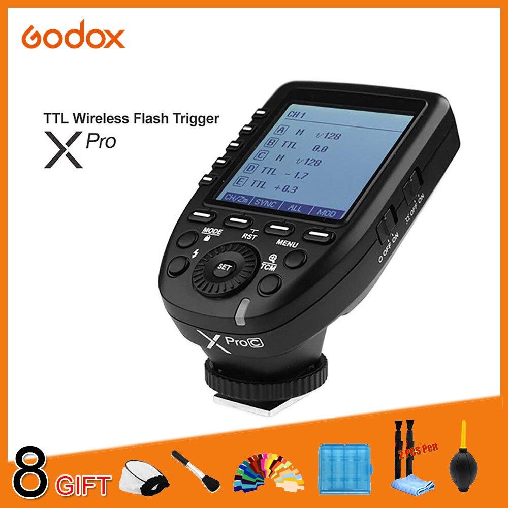Godox Xpro série Flash déclencheur transmetteur xpro-c/N/S/F/O pour tous les types d'appareil photo pour Canon Nikon Sony Sony Olympus Panasonic Fuji