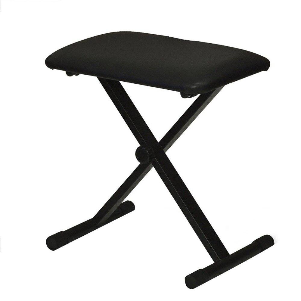 все цены на Lightweight Piano Keyboard Bench Adjustable Folding Bench Black Leather Piano Seat Bench Made of Heavy-duty Steel Construction