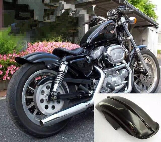 Free Shipping 1Pcs Black Rear Fender For Harley Sportster XL Solo Cafe Racer Bobber Chopper XLH1200