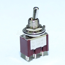 100PCS MTS-103-C1 6MM 3A 250VAC 6A 125VAC 3Pin SPDT ON-OFF-ON 3 Positions Miniature Toggle Switch For Guitar Pedal Use 20pcs 3 pin spdt on on toggle switch 6a 125vac