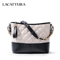 LACATTURA Luxury Women Messenger Bags Designer Leater Handbag Fashion Chain Shoulder Bag Small Clutch Lady Crossbody