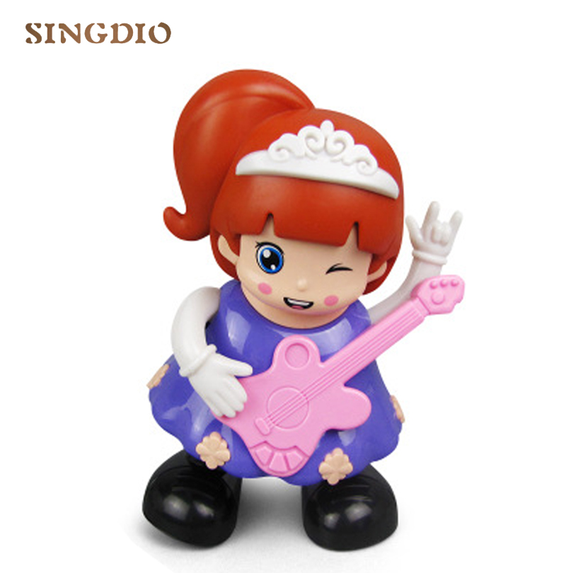 Toys & Hobbies Electric Playing Guitar Spinning Dance Little Princess Lighting Electric Dancing Robot Toy 2019 Latest Style Online Sale 50%