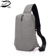 FengDong men anti theft small crossbody travel bag waterproof one shoulder chest bag pack men messenger bags backbag wholesale(China)