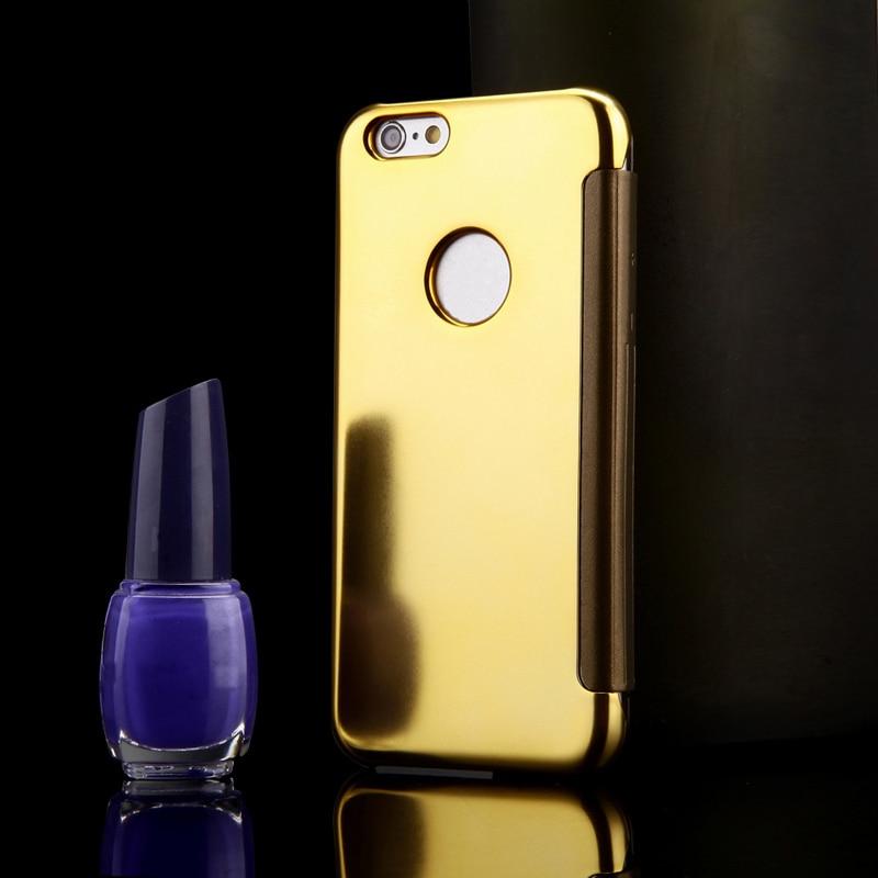 Luxury Batal Cerdas Window Protector Shell Kasus untuk iPhone 6 & 6 - Aksesori dan suku cadang ponsel - Foto 4