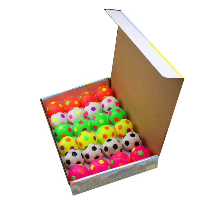 Squeeze Sound Sports Soccer Ball Illuminate Color Changing Light Baby Intelligence Development Kids Educational Toys