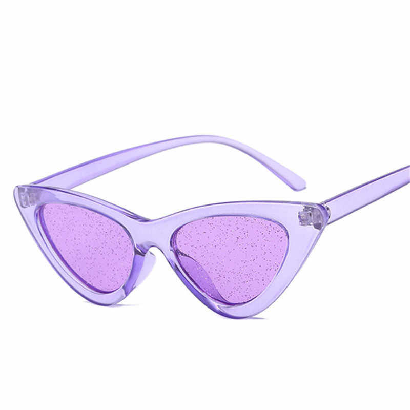 08471540eb7 NYWOOH Retro Cat Eyes Sunglasses Women Shiny Purple Red Sun Glasses Ladies  Sexy Cateye Vintage UV400