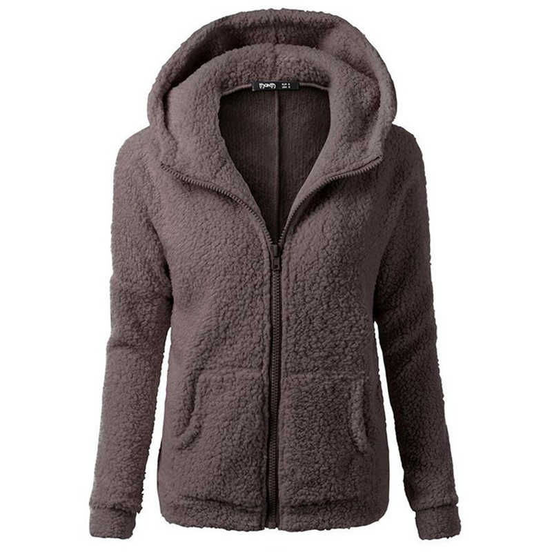 Hoodies & Sweatshirts Winter Coats Women 2018 Hot Sell European American Fashion Hooded Sweatshirt Hair Coat Female Fleece-lined Sweatshirt Jacket