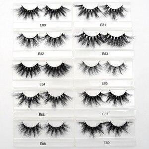 Image 3 - 50 Pairs Free DHL Visofree 25mm Lashes Dramatic Mink Lashes Soft Long 3D Mink Eyelashes Crisscross Full Volume Eye Lashes Makeup
