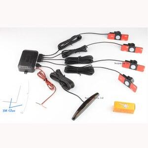 Image 3 - Koorinwoo Ban Đầu Xe Ô Tô Màn Hình LED Đỗ Xe Ô Tô Cảm Biến Nhiều Màu Bộ 4 Đầu Dò Lùi Xe Radar Parktronic mù Cảnh Báo Đèn Báo