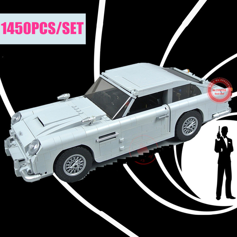 Nouveau Expert technique James Bond fit legoings technique créateur blocs de construction briques DB5 modèle enfant bricolage jouets cadeau