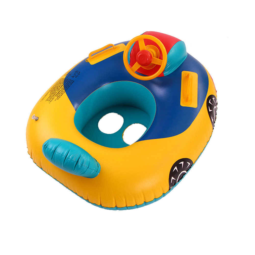 Baby Float Boat Ring Toddler Swimming Pool Swim Seat Car Inflatable Baby Float Seat Boat Children's Funy Mounted Floating Toy