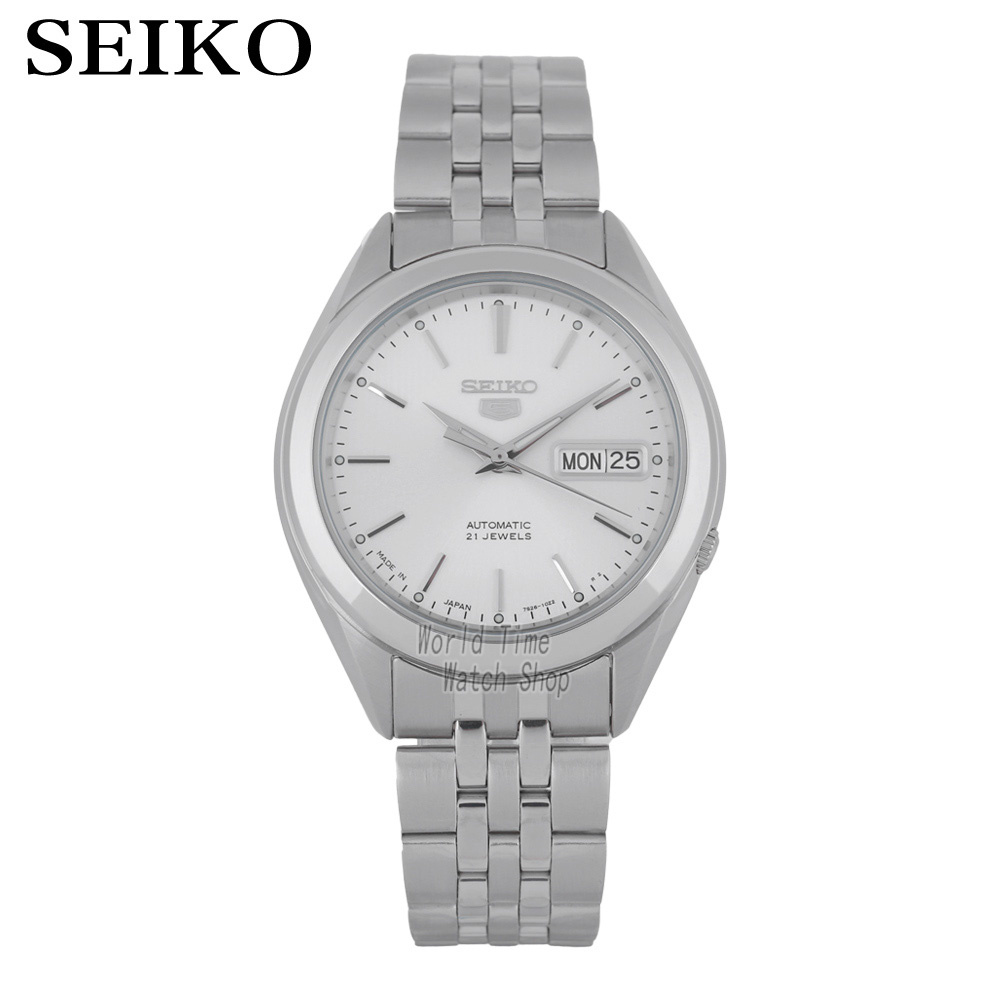 SEIKO No. 5 Watch automatic mechanical watch calendar waterproof business men's watch made in JAPAN SNKL15J1 SNKL21J1 SNKL19J1 seiko watch no 5 automatic shield on the 5th automatic machinery business female form symj03j1