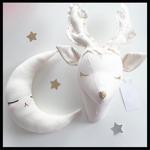 2015NEW de noël cerfs décorations murales animaux tête jouets enfants mignon chambre mur accrochez anniversaire nouvel an cadeaux livraison gratuite 1 pcs