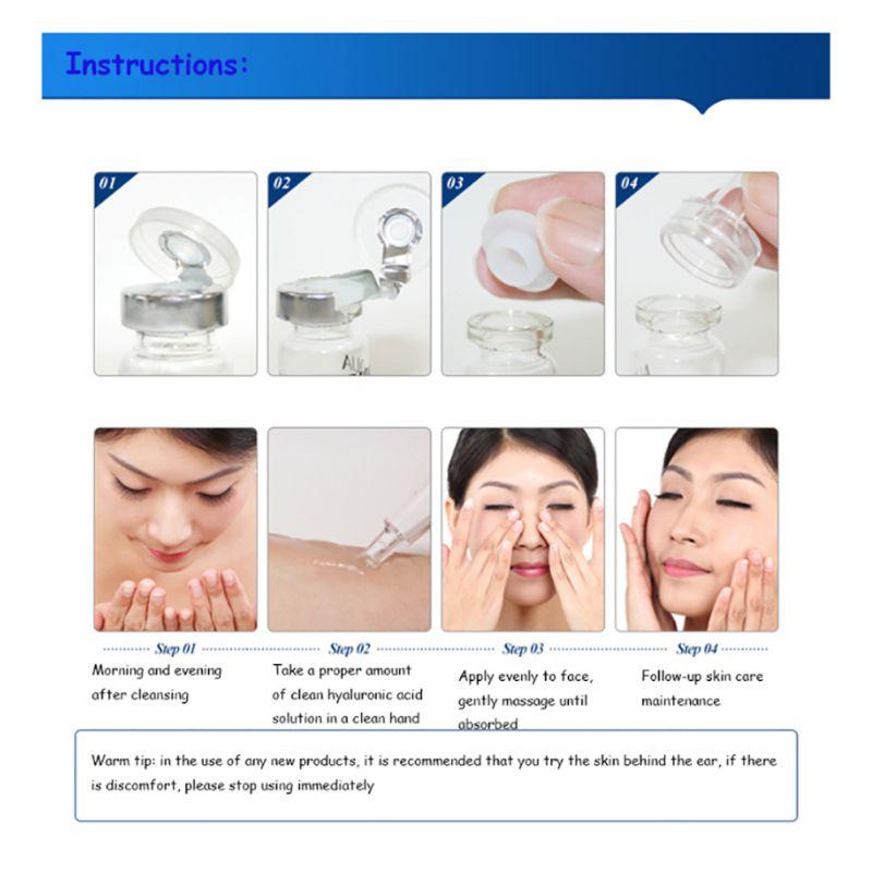 10pcs Serum Moisturizing Hyaluronic Acid Vitamins Facial moisturizing Anti Wrinkle Aging Collagen Skin Care Essence