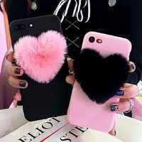 Encantadora 3D peludo amor corazones cabello lindo teléfono caso Forfor Samsung Galaxy A5 A6 A7 A9 2018 A8 más A3 J3 J5 J7 2017 S7 S6 borde A750