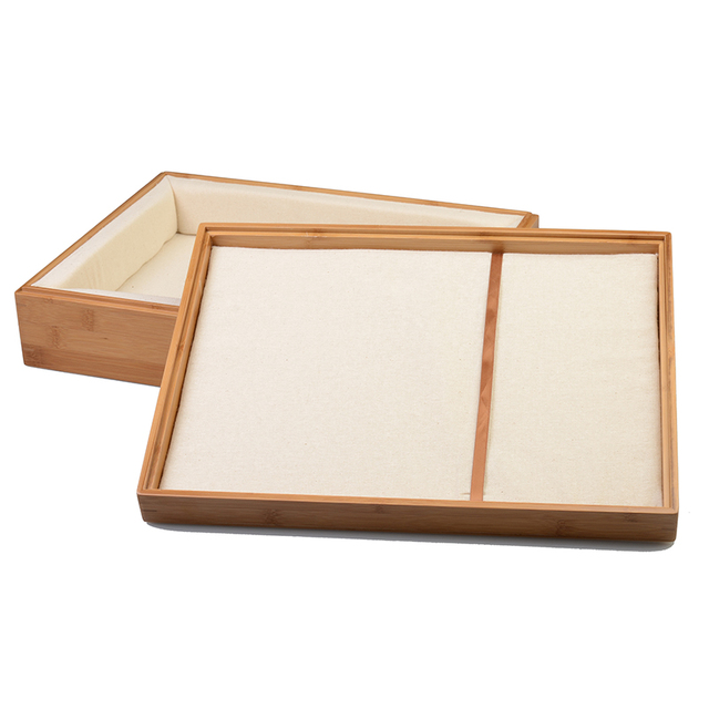 Bamboo Cutlery Tray Adjustable Box Organizer Multi Use Home Decor