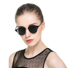 new Mirror Round Sunglasses Women or Men Glasses Points Retro rivet Half-metal designer Colorful Rose Gold Glasses d 4246