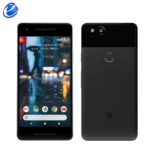 Original Unlocked Google Pixel 2 5.0'' inch Octa Core Single sim 4G LTE Android cellphone 4GB RAM 64GB 128GB ROM smartphone