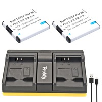 Probty 2PCS NB 11L NB 11L Camera Battery USB Dual Charger For Canon A2300 A2600 A4000