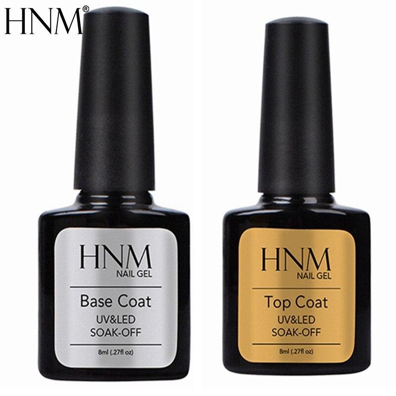 HNM UV Top Base Nail Gel Polish Foundation For UV Gel Nail