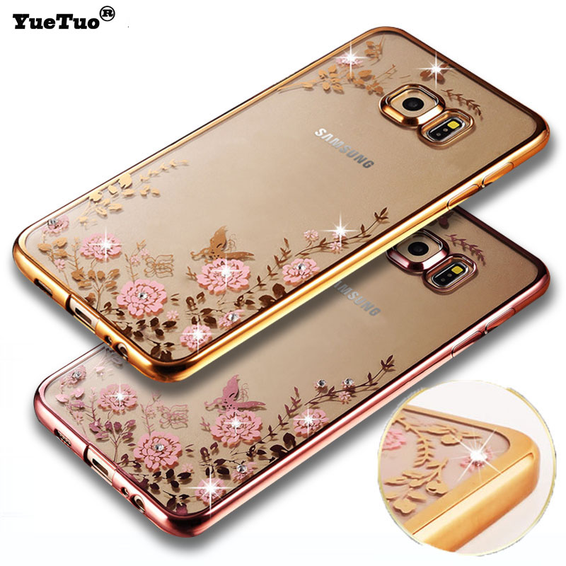 Us 352 6 Offyuetuo Luxury Original Gold Tpu Silicon Silicone Case For Samsung Galaxy S6 Edge S6edge S 6 Silicon Clear Soft Coque Cover Etui In