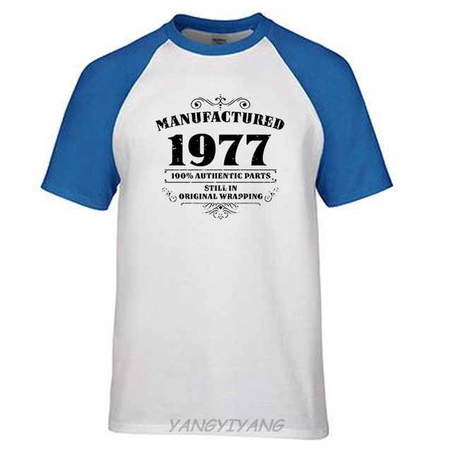 Mens 40th Birthday T Shirt Manufactured 1977 Shirts Gifts Funny Angel Street