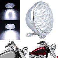 Motorcycle H4 Headlight Vintage 5 Headlight 60/55W Headlamp Amber Glass For Harley Chopper Bobber Cafe Racer Custom