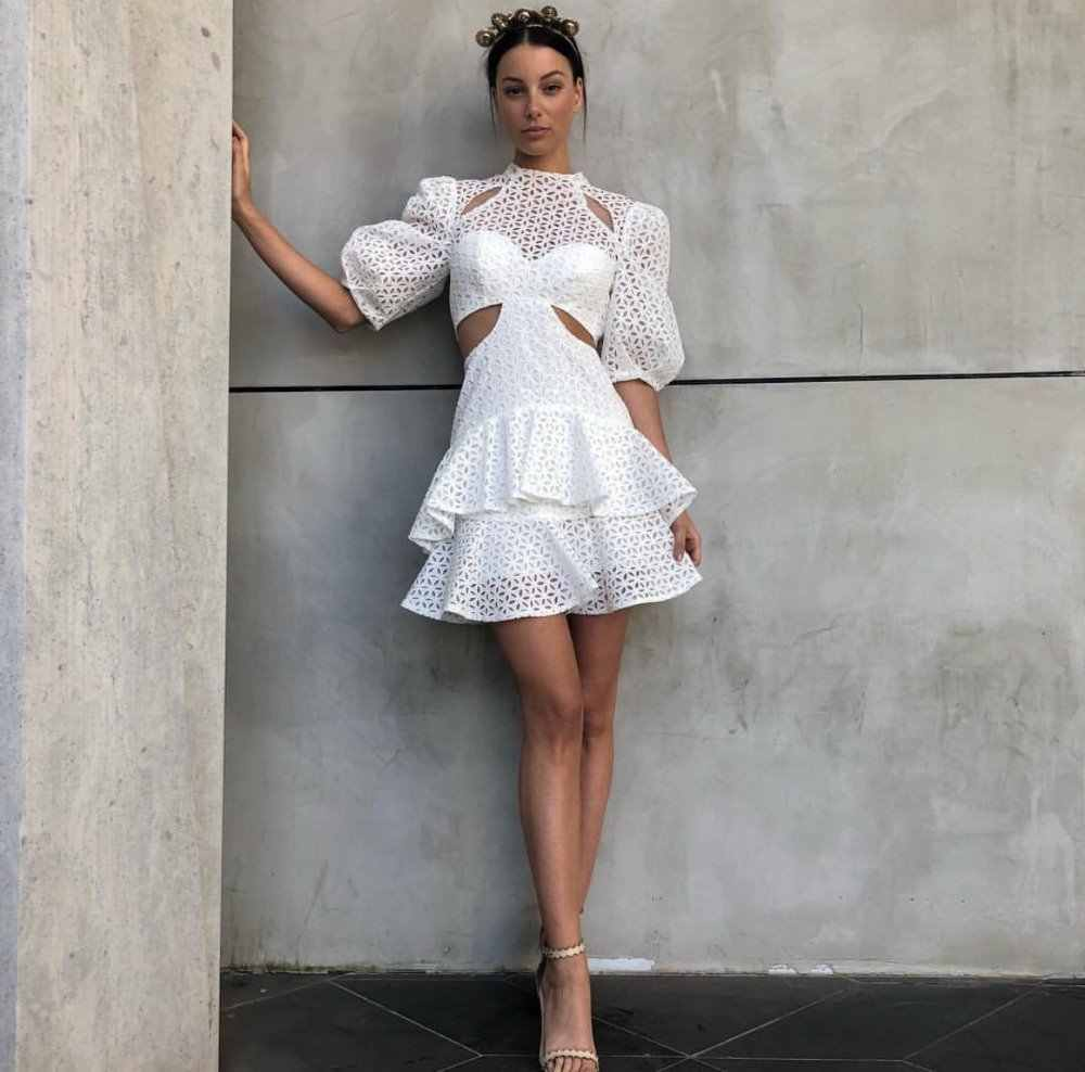 39a58a01afd Resort Style White Dress Women Fashion Holiday Party Night Club Celebrity  Mini Sexy Dresses Hot Style
